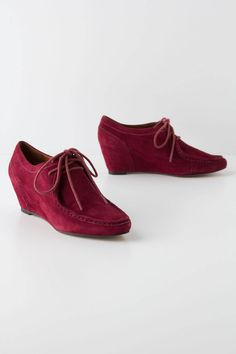 Suede Moccasin Wedges