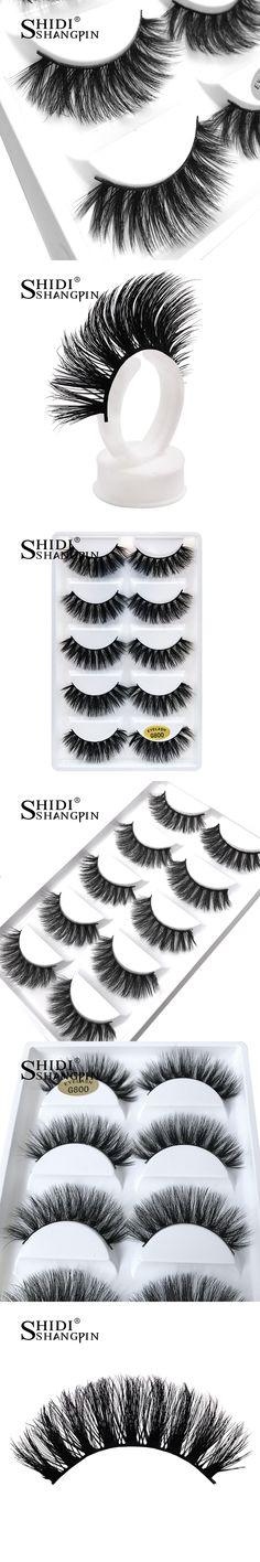 Luxry Thick False Eye Lash 100% Real 3D Mink Party Eyelashes 5 Pairs Eyelash Makeup Kit Professional Lashes Maquiagem Cilios