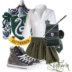 Slytherin, created by marylee on Polyvore