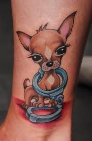 chihuahua tattoo minus the handcuffs