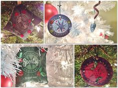 Get creative with Scentsy Scent Circles and Scent Paks as Christmas Tree ornaments! Your tree will look and SMELL AMAZING! love this :)