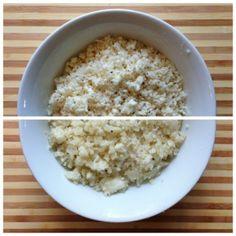 Simple Cauliflower Rice w/ flavor options