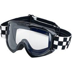 - Moto Goggle - Checkers Black