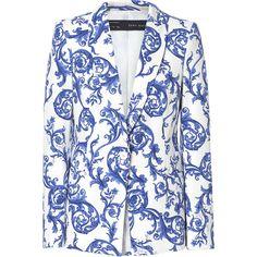 Zara Ceramic Printed Blazer ($90) ❤ liked on Polyvore