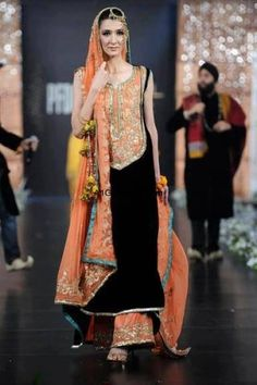 this velvet looks gorgeous with embroidered orangish oeach