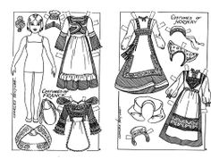 paper doll to color