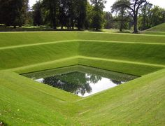 A pool of water from the Boughton House Garden England. Garden Pool, Garden Art, Home And Garden, Landscape And Urbanism, Garden Landscape Design, Fish Ponds, Outdoor Landscaping, Land Art, Go Green
