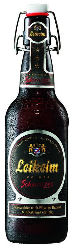 Bière Brune Leikeim. Bière noire de tradition avec 4,90% d'alcool. Bouteille de 50cl avec bouchon mécanique.