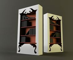 This is just wow! What a cool bookshelf. Such a great statement piece.