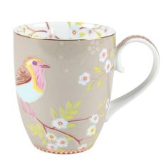 This pretty mug from Pip Studio is part of the Early Bird range and is the perfect way to enjoy your favourite hot drink. The design features a pretty bird sitting amongst a fabulously floral patte...