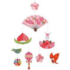 モビール:桃の節句,ホーム&リビング,ペーパークラフト,日本,人形,桃の節句,ひな祭り,ハンギングデコレーション,縁起物,女の子,飾り,節句