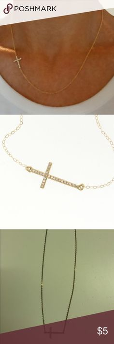 Nasty Gal Sideways Crystal Cross Necklace Nasty Gal Sideways Crystal Cross Necklace 🌟 Offers accepted! 🌟 Bundles accepted! 🌟 15% off 2+ items ❌ PayPal ❌ trades Nasty Gal Jewelry Necklaces