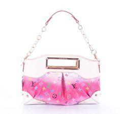 Louis Vuitton Multicolore Canvas Judy MM M40255 Pink  Size: 35 x 20 x 9 (cm)
