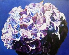 "Robert Lemay PURPLE HYDRANGEA / Canada House Gallery - oil, canvas 24"" x 30"""