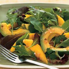Avocado and Mango Salad with Passion Fruit Vinaigrette recipe | Epicurious.com