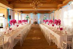 fuschia wedding theme   21 Pelican Hill Wedding White Fuschia Chic Decor Phalaenopsis » Blog ...