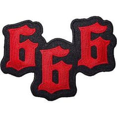 666 Devil Satan Embroidered Iron / Sew On Patch Jeans Coat Bag Fancy D