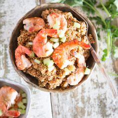 One Pan Quinoa mit Shrimps_featured