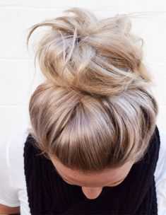 Perfect Messy Top Bun Hairstyles 2018 Trends for Women