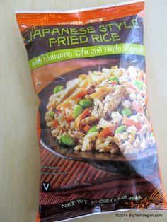 Japanese Style Fried Rice with Edamame, Tofu, and Hijiki Seaweed #vegan #traderjoes