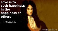 Gottfried Leibniz Quotes at StatusMind.com