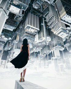 El mundo al revés... #LaCuadraU #Living #City #Momentum  Créditos @demasrusli