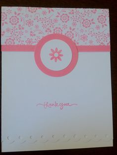 Hand Made Thank You Card with Envelope by CrazyCoasters on Etsy, $3.00