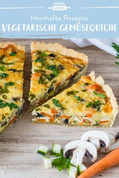 Whether called vegetable cake or vegetable quiche, this recipe for the vegetarian vegetable quiche is simply fantastic. Everyone should have tried this quiche once! # vegetable quiche recipes # vegetable cake The best vegetarian vegetab Vegetable Cake, Vegetable Quiche, Vegetable Recipes, Healthy Chicken Recipes, Vegetarian Recipes, Whole30 Recipes, Easy Dinner Recipes, Easy Meals, Sweet Recipes
