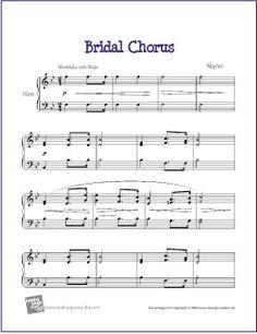 Bridal Chorus (Here Comes the Bride)   Free Sheet Music for Harp - http://www.makingmusicfun.net/htm/f_printit_free_printable_sheet_music/bridal-chorus-harp.htm