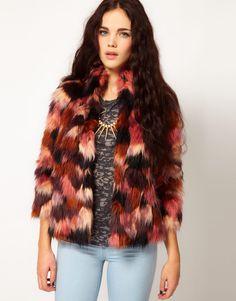 bd3286efc4 River Island Chelsea Girl Mixed Faux Fur Jacket Chelsea Girls