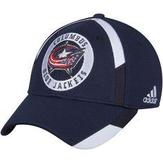 4f43dfe90f0 Men s Columbus Blue Jackets adidas Navy Practice Jersey Hook Flex Hat