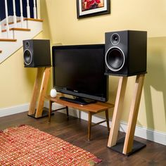 Speaker stands are an incredibly cool and innovative way to raise your speakers off of the floor and place them at an ideal height.