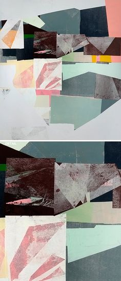 Tape and paper and paint, oh my! Jessica Bell's brand new mixed media work!