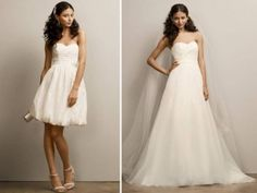 David's Bridal Two-in-one Sweetheart Strapless Organza Gown Style Kp3265 | Recycled Bride