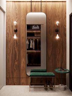 Письмо Luxury Apartments With Open Plan Bedroom Ideas: Interior Design Ideas Contemporary Interior Design, Contemporary Bedroom, Modern Bedroom, Modern Contemporary, Cozy Bedroom, Walk In Robe Designs, Wooden Wall Panels, Design Moderne, Apartment Interior