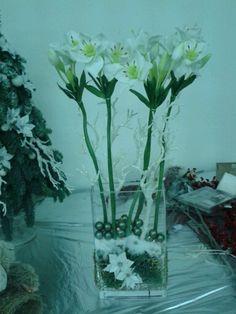 white floral in glassballs