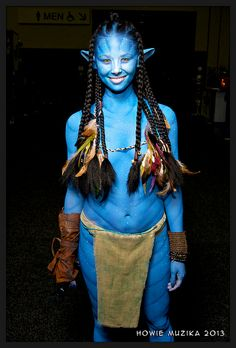 Aja Dang as NEYTIRI the Na'vi from Avatar | SDCC 2013 by Howie Muzika #costumes #cosplay