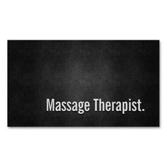 Massage Therapist Cool Black Metal Simplicity Business Card Templates. This is a fully customizable business card and available on several paper types for your needs. You can upload your own image or use the image as is. Just click this template to get started!