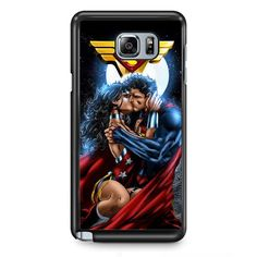 Superman And Wonder Woman Romantic Kiss TATUM-10286 Samsung Phonecase Cover Samsung Galaxy Note 2 Note 3 Note 4 Note 5 Note Edge