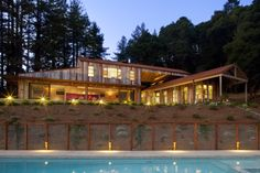 The stunning Aptos Retreat by CCS Architecture...for more must-see pics of wooded wonders like this, check out the latest edition of the the Cedar Book. Photo by Paul Dyer