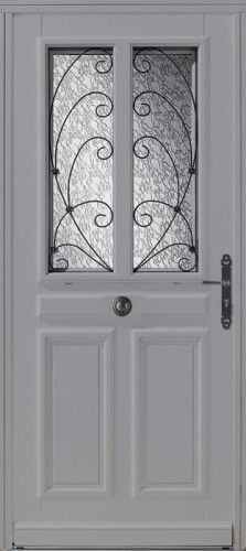 Porte d 39 entr e aluminium colombelles d coration maison for Porte classique interieur