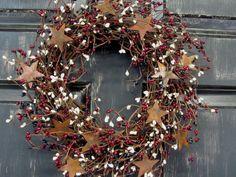 Americana Wreaths  Primitive Americana Wreath   by Designawreath, $38.95