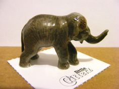 "Little Critterz ""Max"" The Asian Elephant Calf, Miniature Animal Figurine, Nature"