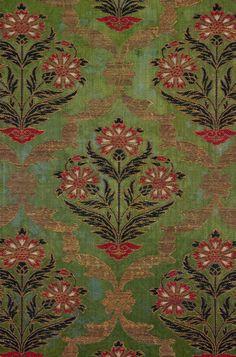 Safavid brocade panel, Iran, silk and metal threads, late c. Textile Pattern Design, Textile Patterns, Pattern Art, Textile Art, Fabric Design, Print Patterns, Textile Prints, Black Phone Wallpaper, Fabric Wallpaper