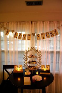 Love Story bridal shower. Banner made with the preview pages from books Bridal Shower Banner Diy, Wedding Shower Banners, Bridal Shower Planning, Bridal Shower Decorations, Wedding Showers, Library Wedding, Wedding Book, Wedding Ideas, Coffee Bridal Shower