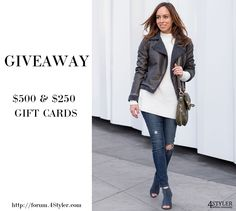We are spotting GiveAways from fashion bloggers, every week. Follow the board to get fashion goodies for free!  #giveaway #give #away #fashion #style #promo #promotion #fashion #blog #blogger #free #stylist #gift #card #shopping