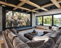 home theater design \ home theater ideas + home theater rooms + home theater + home theater design + home theater seating + home theater ideas on a budget + home theater ideas basement + home theater decor Home Cinema Room, Home Theater Decor, Home Theater Rooms, Home Theater Design, Dream Home Design, Modern House Design, Home Interior Design, Home Decor, Dream House Interior