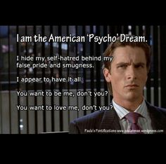 American psycho quotes inspiration american psycho patrick bateman american psycho quotes inspiration business card quotes from american psycho images card design and reheart Gallery