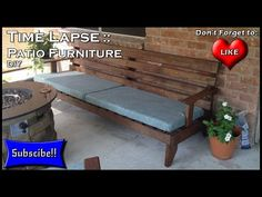 How To Build Patio Furniture Time Lapse   YouTube