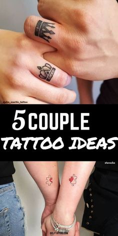 5 Couple Tattoo Ideas | Couple Tattoos Love - Are you and your significant other thinking about getting a couple tattoo? Getting a couple tattoo can be a bonding experience. One step that you'll both need to agree on is the tattoo design. Click here for five unique and meaningful ideas for couple tattoos. Self Tattoo | Tattoo Ideas | Couple Tattoos Unique Meaningful | Couple Tattoo Ideas | Mini Tattoos | Tattoos for Women | Tattoos for Men | Tattoos with Meaning #tattoos #bodyart… Pretty Hand Tattoos, Hand And Finger Tattoos, Finger Tattoo For Women, Small Hand Tattoos, Shoulder Tattoos For Women, Small Tattoos For Guys, Sleeve Tattoos For Women, Mini Tattoos, Couple Tattoos Unique Meaningful